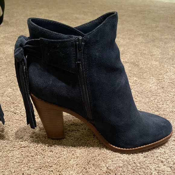 Vince Camuto Shoes - Vince Camuto Navy Suede Booties